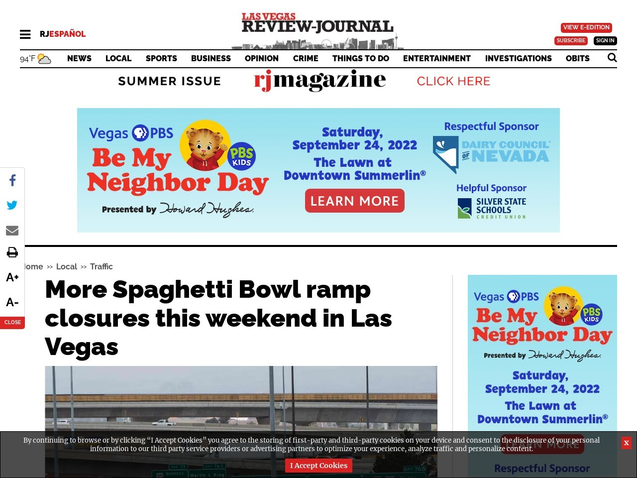 More Spaghetti Bowl ramp closures this weekend in Las Vegas
