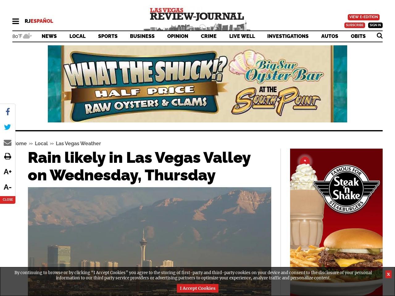 Rain will return to Las Vegas Valley this week