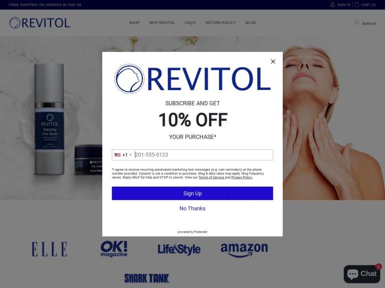 Revitol Eye Cream screenshot
