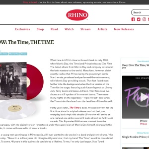 OUT NOW: The Time, THE TIME  | Rhino