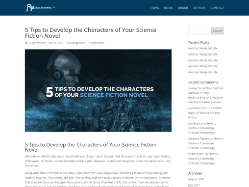 5 Tips to Develop the Characters of Your Science Fiction Novel
