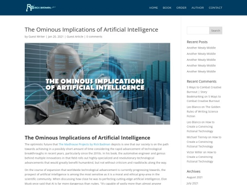 The Ominous Implications of Artificial Intelligence