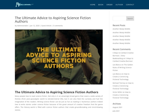 The Ultimate Advice to Aspiring Science Fiction Authors – Rick Badman