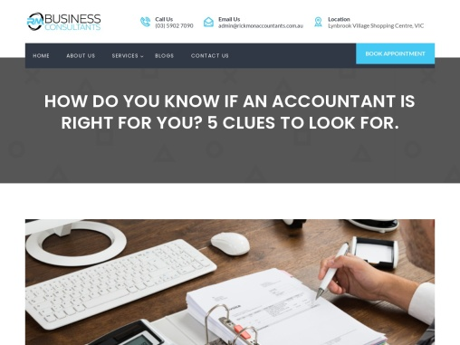 5 Clues to Look for An Accountant in Melbourne.