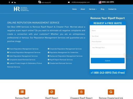 Remove Ripoff Report from Google | Quick Ripoff Removal Service