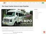 Tempo Traveller service in Jaipur | Hire Tempo Traveller in Jaipur | Call Now & Book Fast