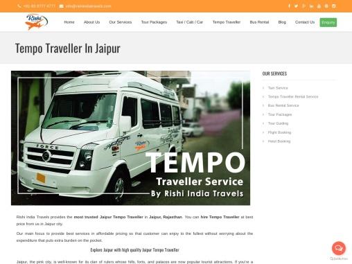 tempo traveller in Jaipur | Jaipur tempo traveller