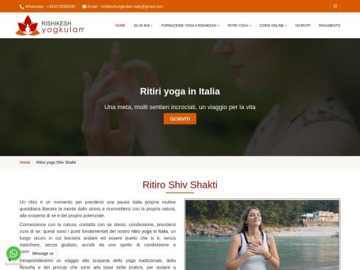Ritiri yoga in Italia | Yoga Retreat in Italy