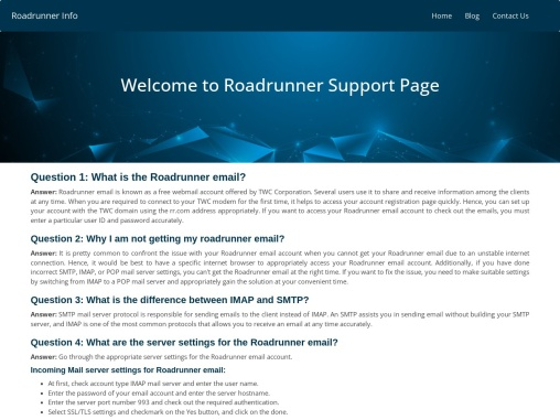 Roadrunner tech support phone number теВ Roadrunner customer service number