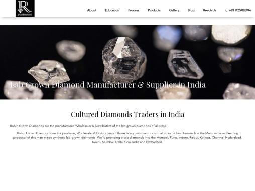 Lab grown diamond manufacturer, supplier, trader, wholesaler Mumbai,India