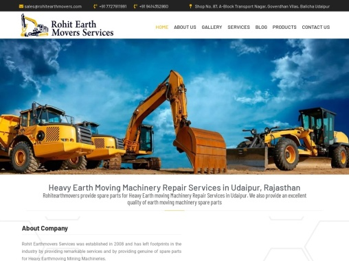 Heavy EarthMoving Machinery Repair Services in Udaipur