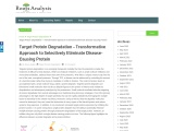 Target Protein Degradation – Transformative Approach to Selectively Eliminate Disease-Causing Protei