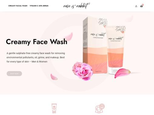 Rose and Rabbit : Creamy Facial Wash