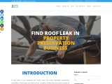 How to find roof leak in property preservation business?