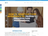 How to maintain your appearance as property preservation professional?