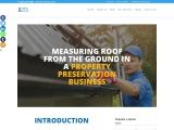 How to measure the roof from the ground in a property preservation business?