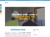 What are the pros and cons of renovating the property?