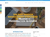 What are the best vendor management strategies in the property preservation business?