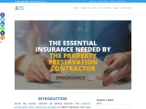 What are the essential insurance needed by the property preservation contractor?