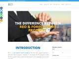 What is the difference between REO & Foreclosed property?