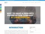 Why you should always have a property preservation company at your disposal?
