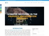 How to work for disaster recovery in the property preservation industry?