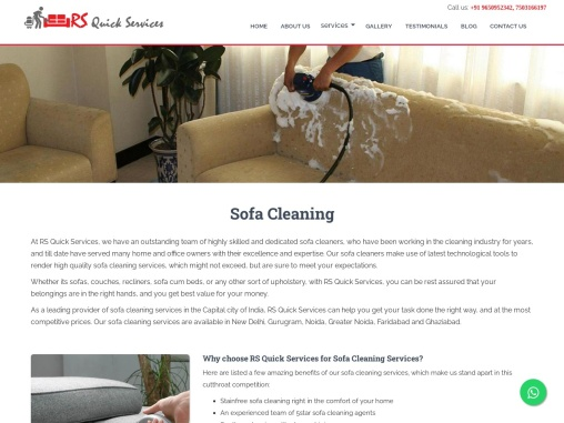 Sofa cleaning services in South Delhi