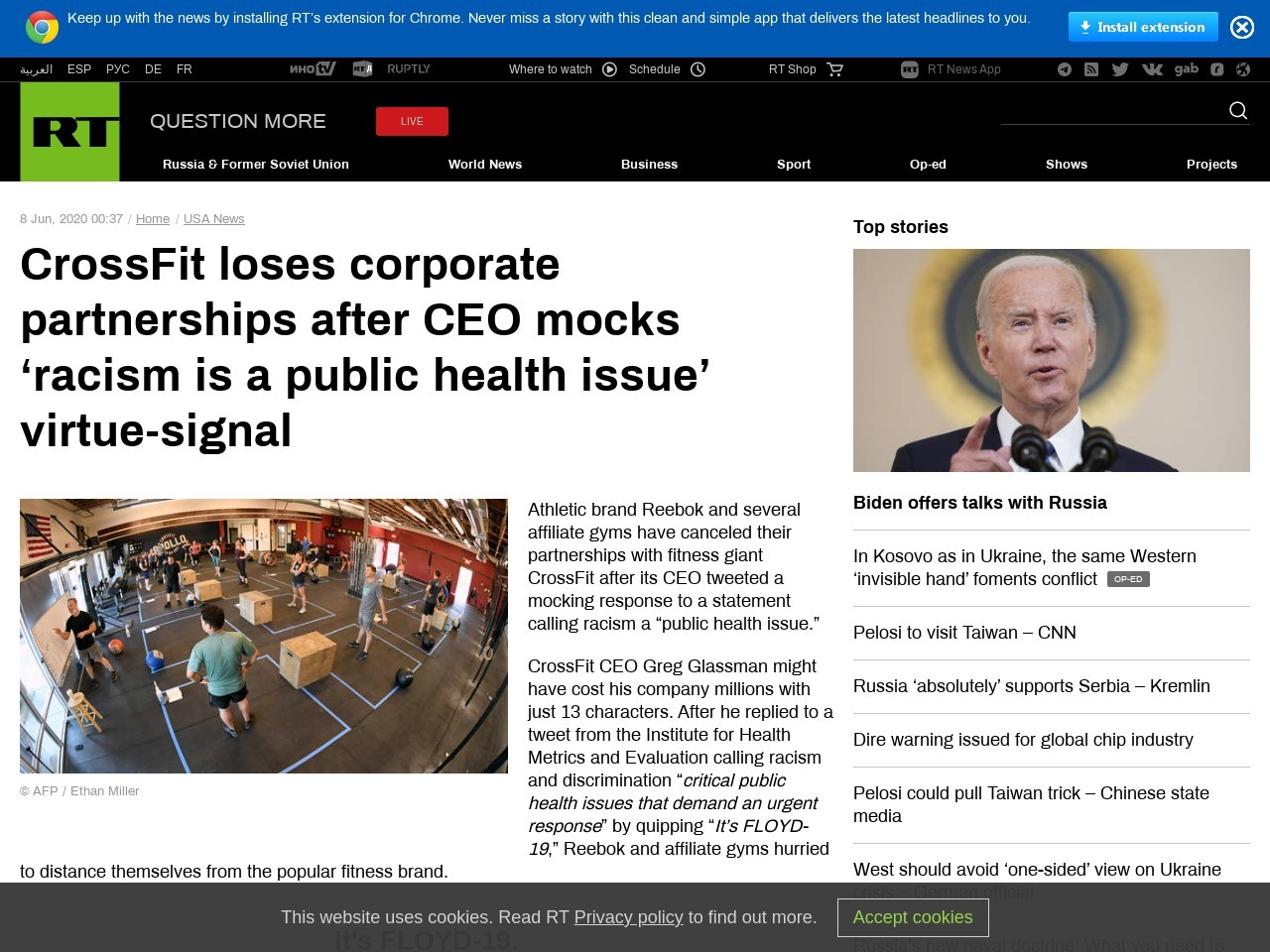CrossFit loses corporate partnerships after CEO mocks 'racism is a public health issue'…