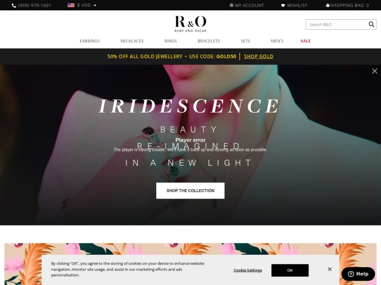 Ruby & Oscar Discount Codes screenshot