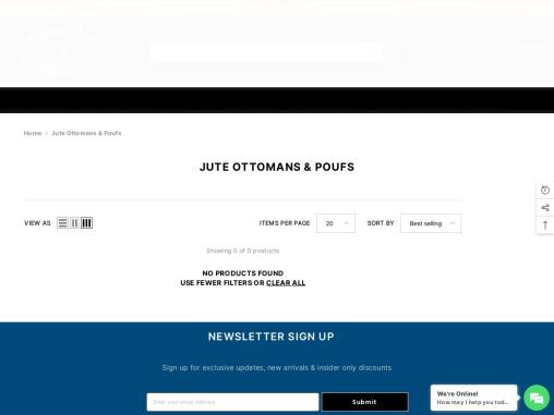 Buy Jute Ottoman Footstool On Sale| At Rug House NZ