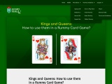 How to use Kings and Queens in Rummy Card Game?