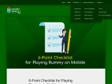 Point Checklist for Playing Rummy on Mobile
