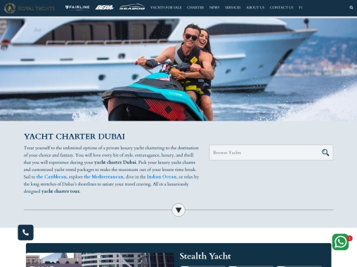 Luxury Yacht Rental services in Dubai