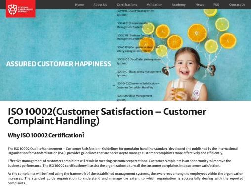 ISO 10002 Certification in UAE – Customer Satisfaction | SAB