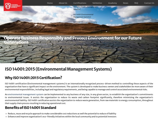 ISO 14001 Environmental Management System | SAB Certification