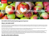 ISO 22000 Food Safety Management System | SAB Certification