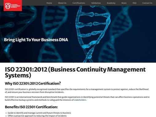 Get ISO 22301 BCM Certification | SABcert