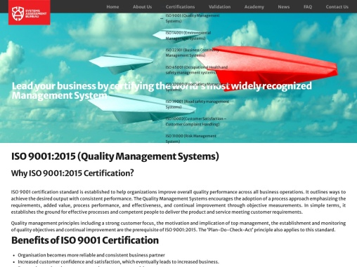 ISO 9001 Quality Management System Certification | SAB Certification