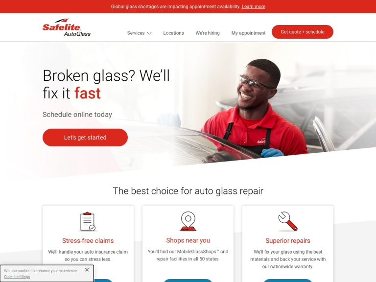 Safelite Autoglass screenshot