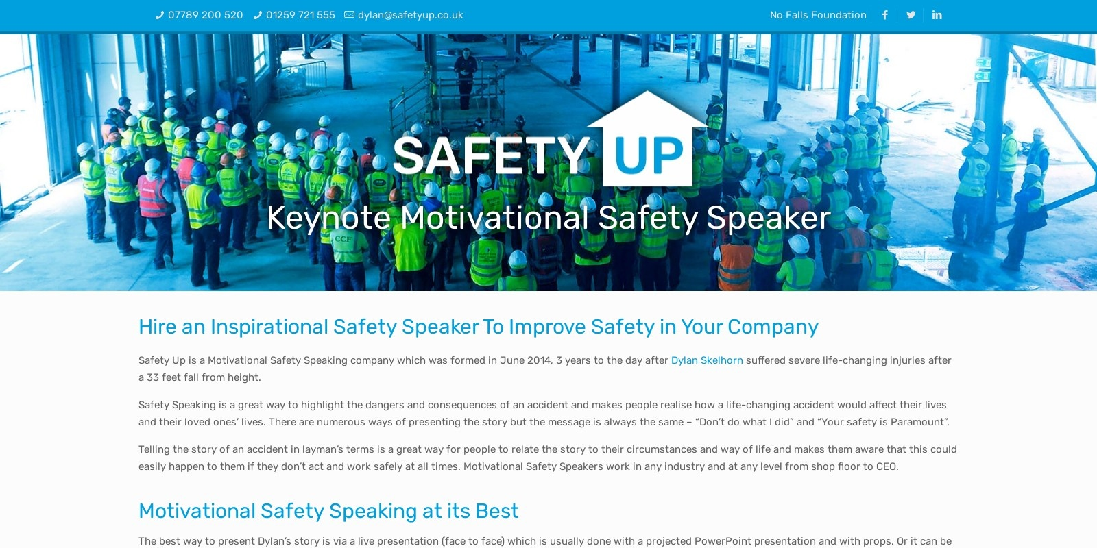Preview of https://www.safetyup.co.uk