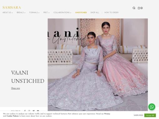 Pakistan Leading Luxury Clothing Brand – Samsara Couture