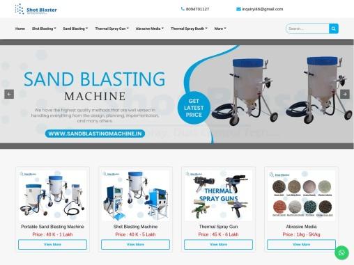 Shot blasting machine manufacturers in India   Shot Blasting Machine price in India for sale