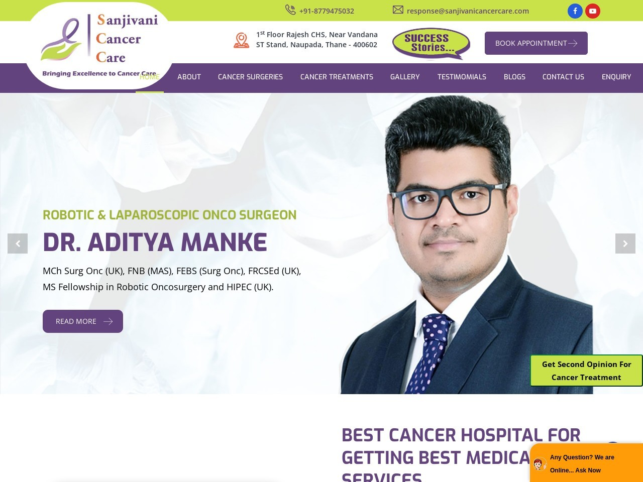 Sanjivani Cancer Care- Oncologist In Thane, Oncology Center In Mumbai
