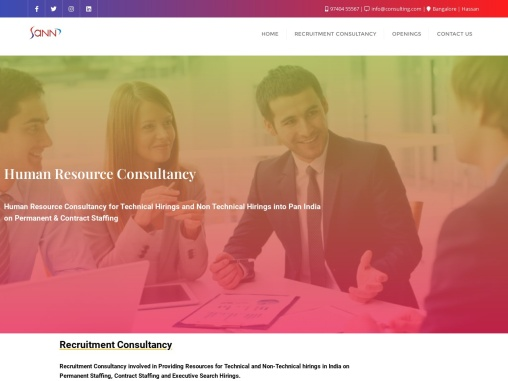 SannConsulting  HR Consultancy  9740455567