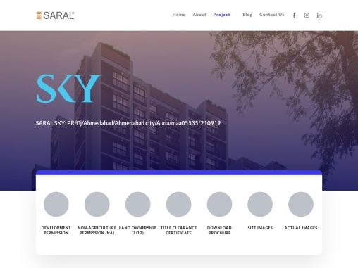 3 BHK Apartment in Ahmedabad | Saral SKY | Saral Infrastructure