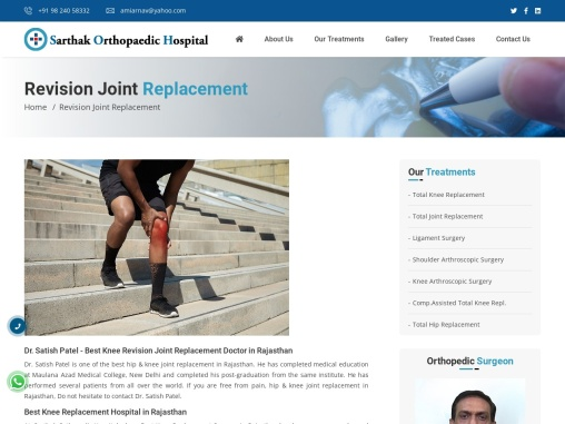 Best Knee Revision Joint Replacement Doctor in Rajasthan