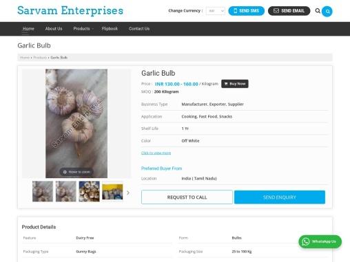 Fresh Garlic Bulb Suppliers in Tamilnadu