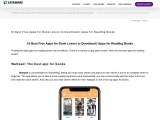 10 Best Free Apps for Book Lovers to Download | Apps for Reading Books