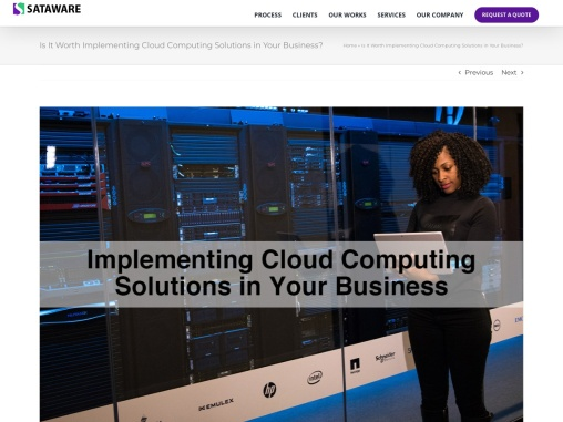 Is It Worth Implementing Cloud Computing Solutions in Your Business?