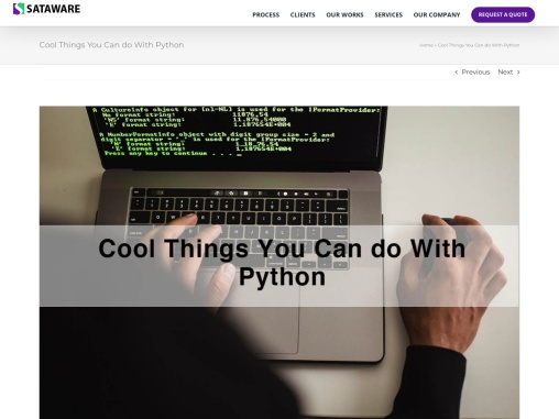 Cool Things You Can Do with Python